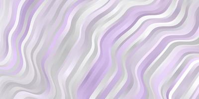 modèle vectoriel violet clair avec des lignes courbes.
