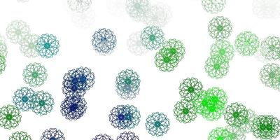 toile de fond naturel vecteur vert clair avec des fleurs.