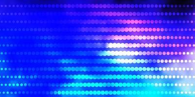 modèle vectoriel rose foncé, bleu avec des cercles.