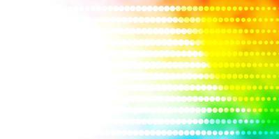 texture de vecteur multicolore léger avec des cercles.