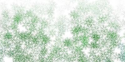 motif abstrait de vecteur vert clair avec des feuilles.
