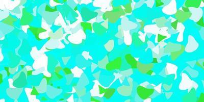 modèle vectoriel vert clair avec des formes abstraites.