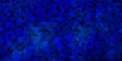 modèle vectoriel bleu foncé avec des cristaux, des triangles.