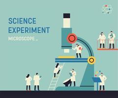 expérience scientifique - microscope vecteur
