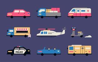 collection de transport de choses à faire vecteur