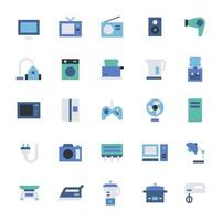 jeu d'icônes d'appareils ménagers vecteur