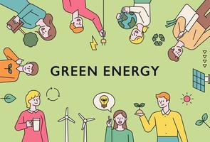 mode de vie d'énergie verte. vecteur