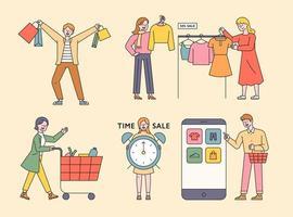 shopping de caractère client.