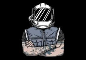 homme en illustration vectorielle de casque astronaute vecteur