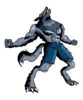 illustration de dessin animé de loup-garou vecteur