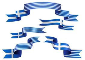 ensemble de ruban de drapeau grec
