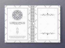 conception de couverture de livre ornemental vecteur