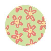 style de bloc de motif organique de fleurs