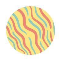 style de bloc de motif organique vagues