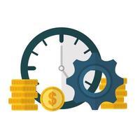 conception de jeu d & # 39; icônes argent et financier