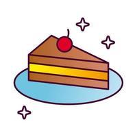 icône de style détaillé anniversaire gâteau sucré