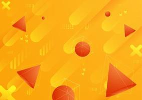 Abstrait avec des formes goemetric gragident en couleur orange vecteur