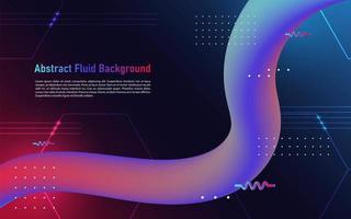 fond de flux abstrait fluide et géométrique. vecteur