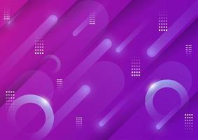 abstrait violet avec des formes géométriques et des lumières vecteur