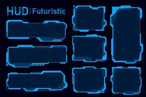 résumés futuristes de hud. fond de concept de thème futur