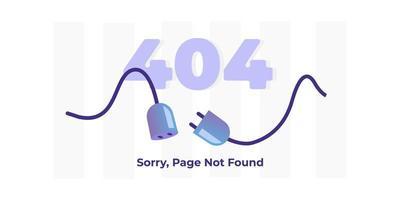 erreur 404 page non trouvée concept de page de destination pour mobile et pc vecteur
