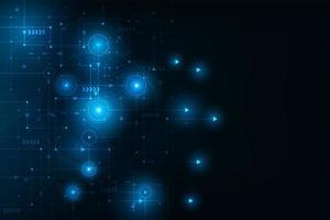 illustration et vecteur de carte de connexion de circuit futuriste abstraite