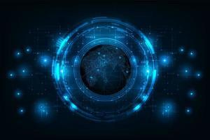 connexion de circuit futuriste abstraite au vecteur et illustration du monde