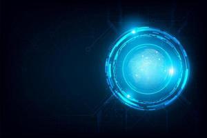 connexion de cercle abstrait globe futuriste