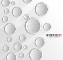 conception abstraite de fond abstrait cercle blanc 3d. vecteur