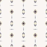 motif ethnique homogène avec des formes géométriques vecteur