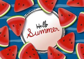 bannière d'été de fond de pastèque