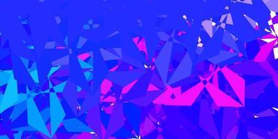 modèle de mosaïque triangle vecteur rose clair, bleu.