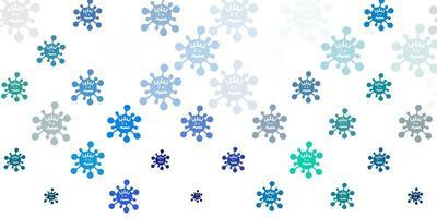 modèle vectoriel bleu clair et vert avec des signes de grippe.