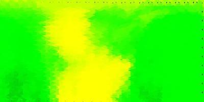 papier peint polygone dégradé vecteur vert clair, jaune.