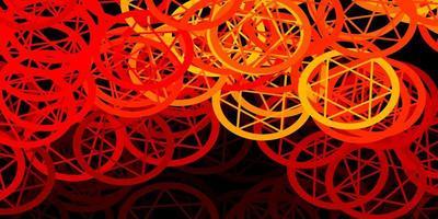 modèle vectoriel rouge foncé avec des signes ésotériques.