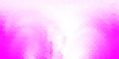papier peint mosaïque triangle vecteur rose clair.