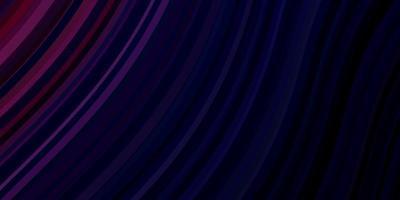 mise en page de vecteur violet foncé avec arc circulaire.