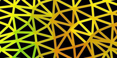 disposition de triangle poly vecteur vert foncé, jaune
