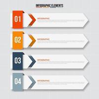 bannière de modèle en 4 étapes infographie entreprise vecteur