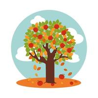 arbre aux pommes en automne