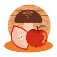 pommes aux champignons d'automne