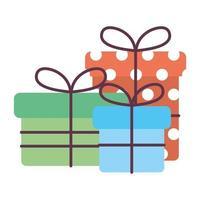 coffrets cadeaux icônes isolées
