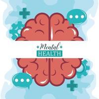journée de la santé mentale, activité des bulles du cerveau humain, traitement médical de psychologie vecteur