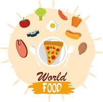 journée mondiale de l'alimentation, repas de mode de vie sain de légumes protéinés