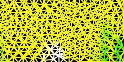 disposition polygonale géométrique de vecteur vert clair, jaune.