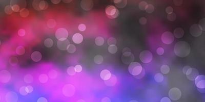 texture de vecteur violet foncé, rose avec des disques.