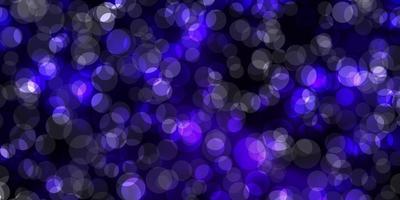 toile de fond de vecteur violet foncé avec des points.