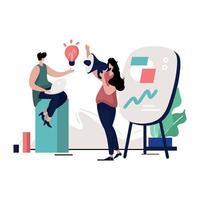 illustration de la culture d'entreprise vecteur
