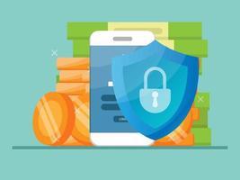 sécurité des services bancaires mobiles vecteur