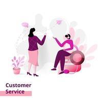 service client de la page de destination vecteur